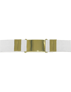 Parade Belt, White with Gold Buckle