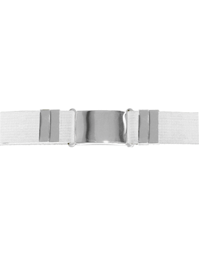 Parade Belt, White with Nickel Buckle