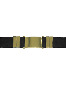 Parade Belt, Black with Gold Buckle