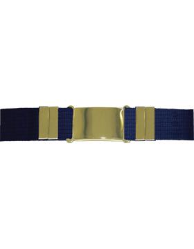 Parade Belt, Navy with Gold Buckle