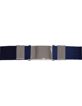 Parade Belt, Navy with Nickel Buckle