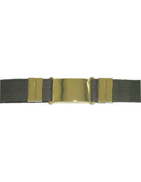 Parade Belt, Olive Drab with Gold Buckle