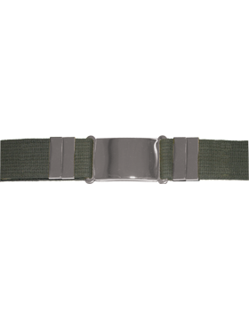 Parade Belt, Olive Drab with Nickel Buckle