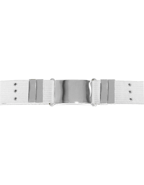 Parade Belt with Eyelets, White with Nickel
