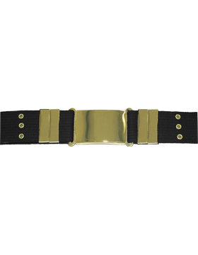 Parade Belt with Eyelets, Black with Gold