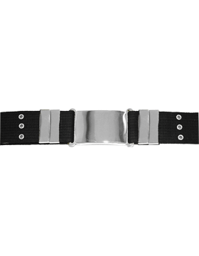 Parade Belt with Eyelets, Black with Nickel