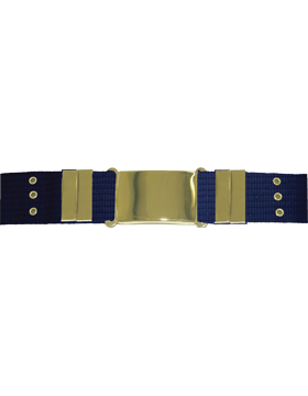 Parade Belt with Eyelets, Navy with Gold