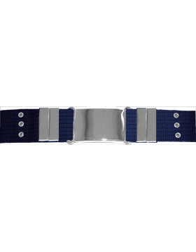 Parade Belt with Eyelets, Navy with Nickel