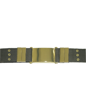 Parade Belt with Eyelets, Olive Drab with Gold