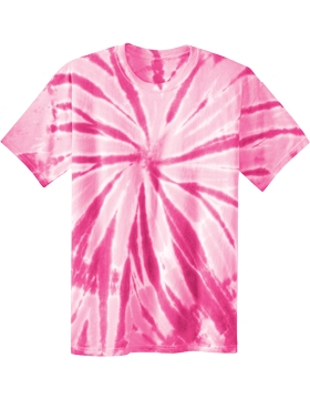 Port and Company-Essential Tie-Dye Tee PC147 Pink