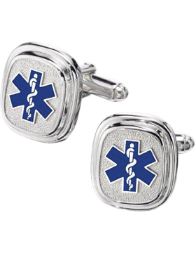 EMT Cuff Links Style 14 Sterling Silver