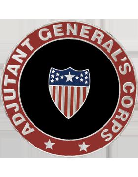 Framed Guidon Medallion (PD-D201) Adjutant General Enameled Patch Design