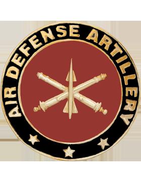Framed Guidon Medallion (PD-D202) Air Defense Artillery Enameled Patch Design