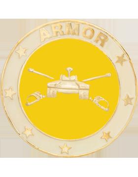 Framed Guidon Medallion (PD-D203) Armor Enameled Patch Design