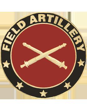Framed Guidon Medallion (PD-D207) Field Artillery Enameled Patch Design