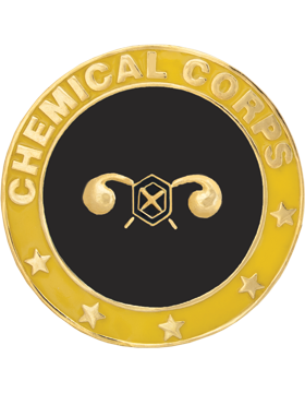 Framed Guidon Medallion (PD-D208) Chemical Enameled Patch Design