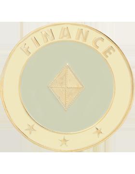 Framed Guidon Medallion (PD-D209) Finance Enameled Patch Design