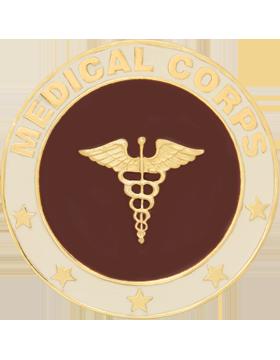 Framed Guidon Medallion (PD-D210) Medical Enameled Patch Design