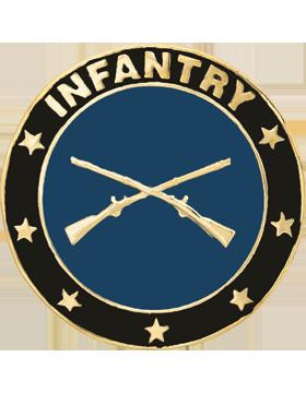 Framed Guidon Medallion (PD-D214) Infantry Enameled Patch Design