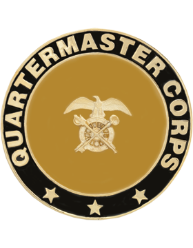 Framed Guidon Medallion (PD-D216) Quartermaster Enameled Patch Design