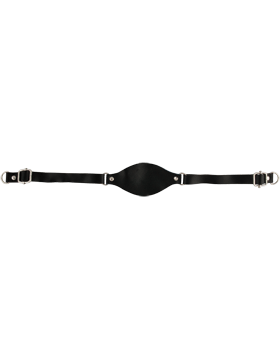 Chin Strap Black Leather with Cup