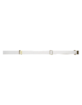 Rifle Sling (PE-C01G) White Webbing 1.25in Brass