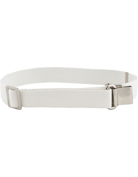 Rifle Sling (PE-C01N) White Webbing 1.25in Nickel
