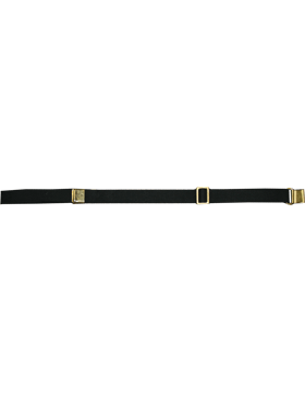 Rifle Sling (PE-C02G) Black Webbing 1.25in Brass