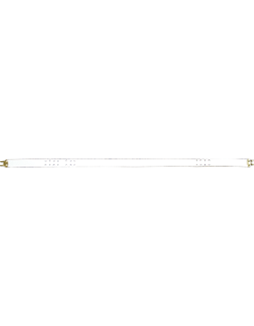 Rifle Sling (PE-C10G) White Leather 1in Gold Hardware small