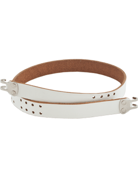Rifle Sling (PE-C10N) White Leather 1in Nickel Hardware