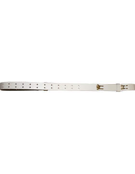 Rifle Sling (PE-C12G) White Leather 1.25in Gold Hardware small
