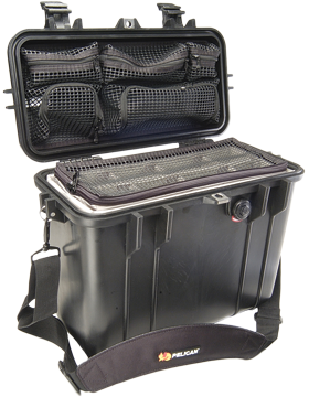 Pelican Top Loader Case with Divider & Lid Organizer