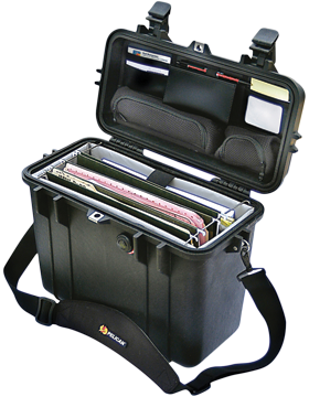 Pelican Top Loader Case w/Office Divider & Lid Organizer