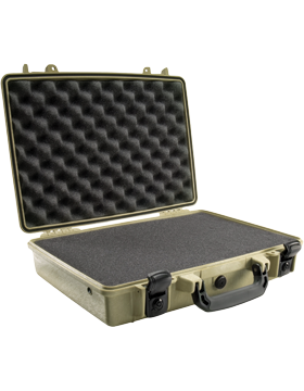 Briefcase with Foam Insert, Olive Drab