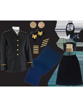 Female Dress Blue Package Elite Jr. Enlisted PVT-SPC without Cap