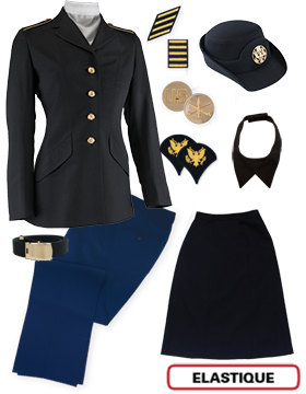 Female Dress Blue Package Elite Jr. Enlisted PVT-SPC with Cap