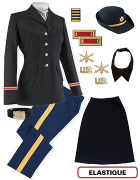 Female Dress Blue Package Elite Officer with Cap (Company Grade)