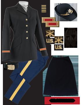 Female Dress Blue Package Elite Officer with Cap (Field Grade)