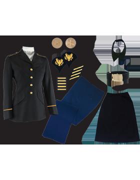 Female Dress Blue Package Premier Jr. Enlisted PVT-CSM without Cap