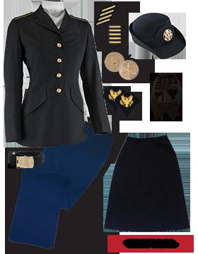 Female Dress Blue Package Premier Jr. Enlisted PVT-SPC with Cap