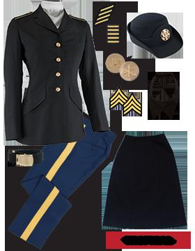 Female Dress Blue Package Premier NCO CPL-CSM with Cap