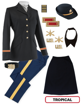 Female Dress Blue Package Premier Officer with Cap (Company Grade)