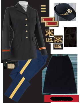 Female Dress Blue Package Premier Officer with Cap (Field Grade)