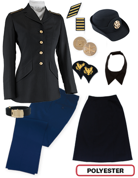 Female Dress Blue Package Colonial Jr. Enlisted PVT-SPC with Cap