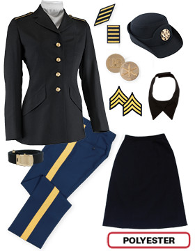 Female Dress Blue Package Colonial NCO CPL-CSM with Cap
