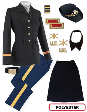 Female Dress Blue Package Colonial Officer with Cap (Field Grade)