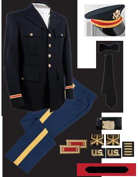 Male Dress Blue Package Elite Officer wtih Cap (Company Grade)
