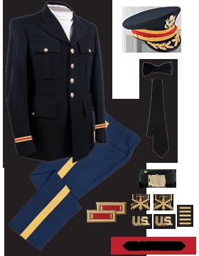 Male Dress Blue Package Elite Officer with Cap (Field Grade)