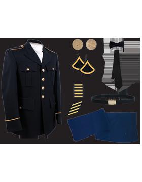 Male Dress Blue Package Premier Jr. Enlisted PVT-SPC without Cap