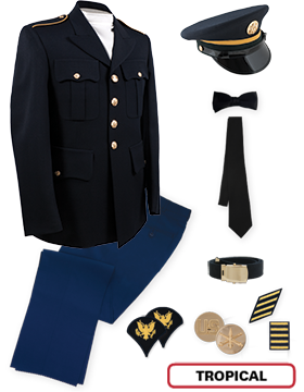 Enlisted Male Dress Blue Premier Package Jr. PVT-SPC with Cap